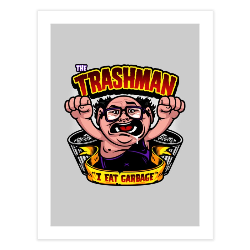 The Trashman Home Fine Art Print by harebrained's Artist Shop