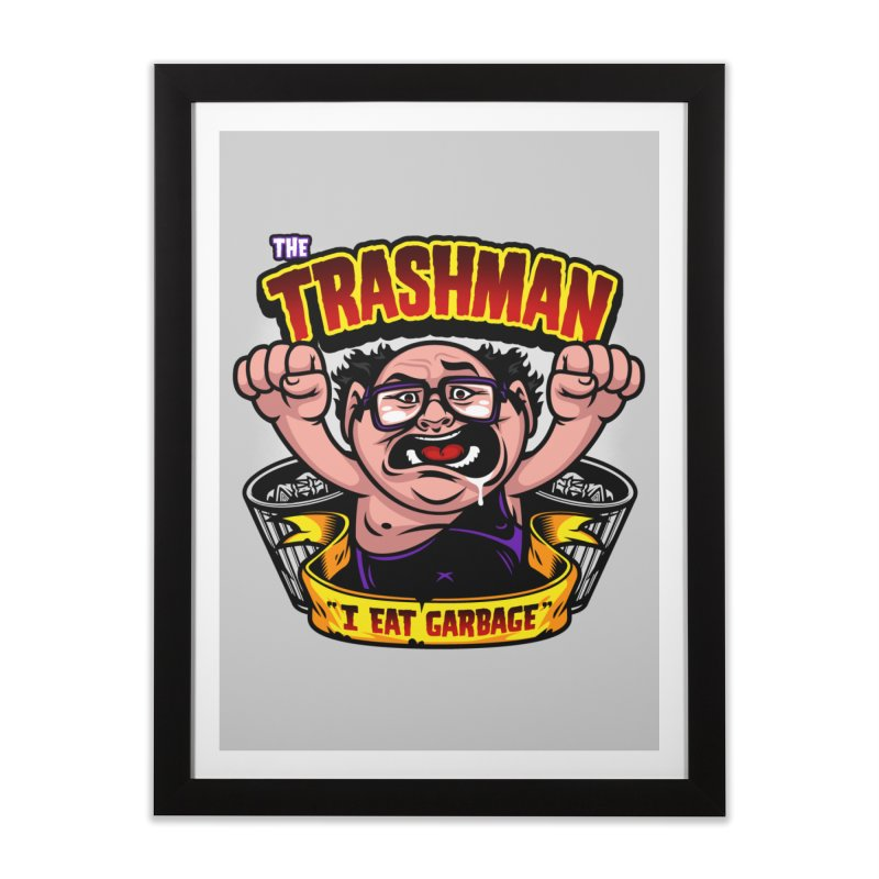 The Trashman Home Framed Fine Art Print by harebrained's Artist Shop