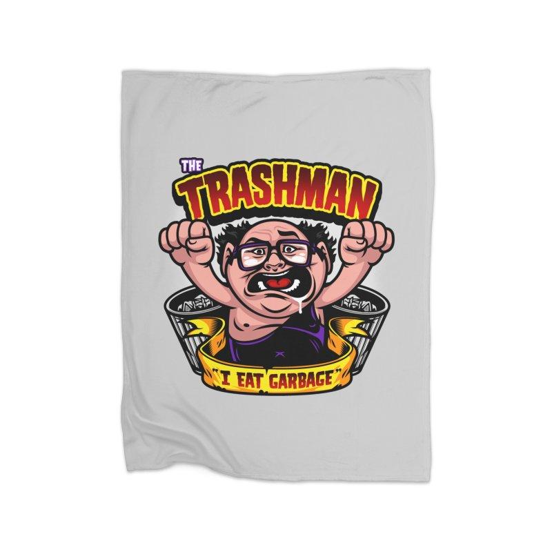 The Trashman Home Fleece Blanket Blanket by harebrained's Artist Shop