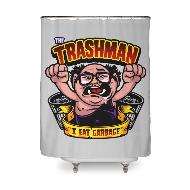 The Trashman Home Shower Curtain by harebrained's Artist Shop