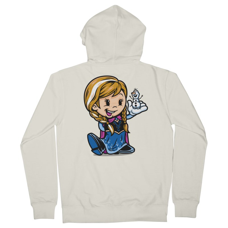 Vintage Anna Women's French Terry Zip-Up Hoody by harebrained's Artist Shop