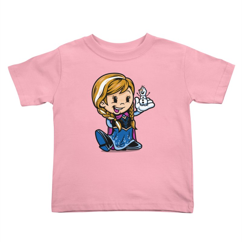 Vintage Anna Kids Toddler T-Shirt by harebrained's Artist Shop