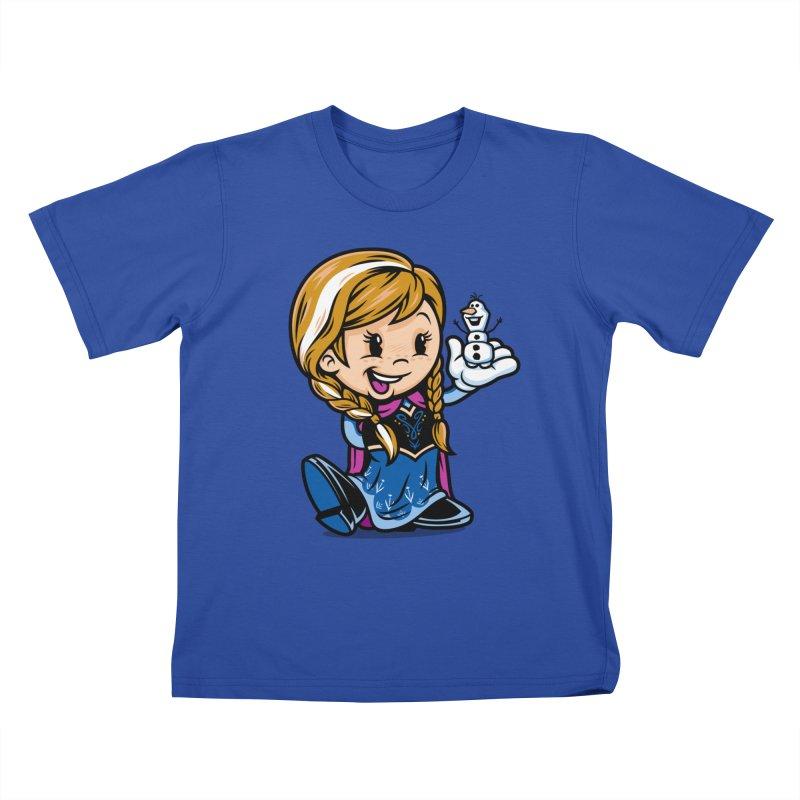 Vintage Anna Kids T-Shirt by harebrained's Artist Shop