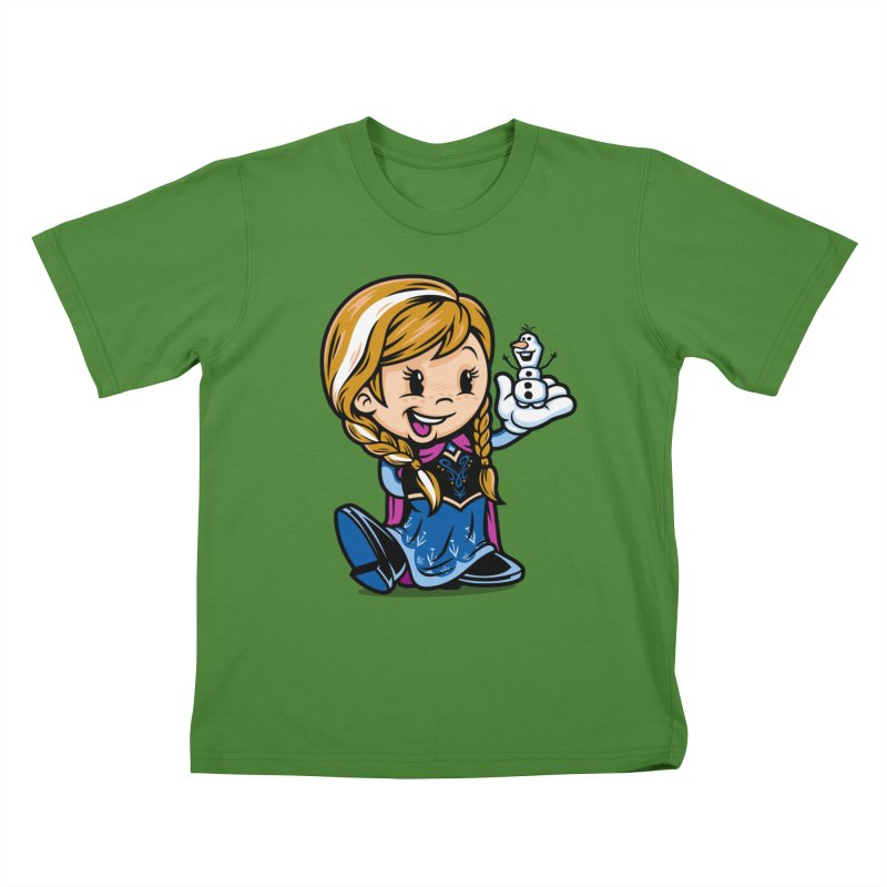 Vintage Anna Kids T-Shirt by harebrained's Artist Shop