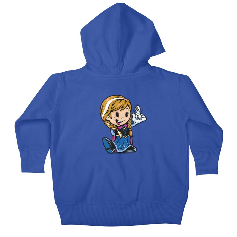 Vintage Anna Kids Baby Zip-Up Hoody by harebrained's Artist Shop