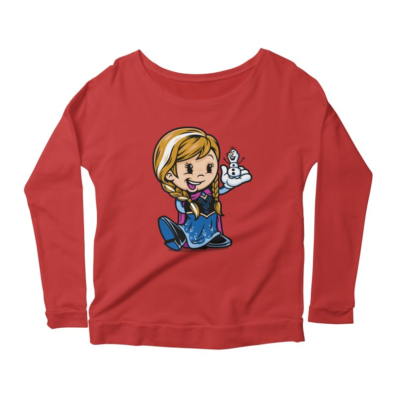 Vintage Anna Women's Scoop Neck Longsleeve T-Shirt by harebrained's Artist Shop