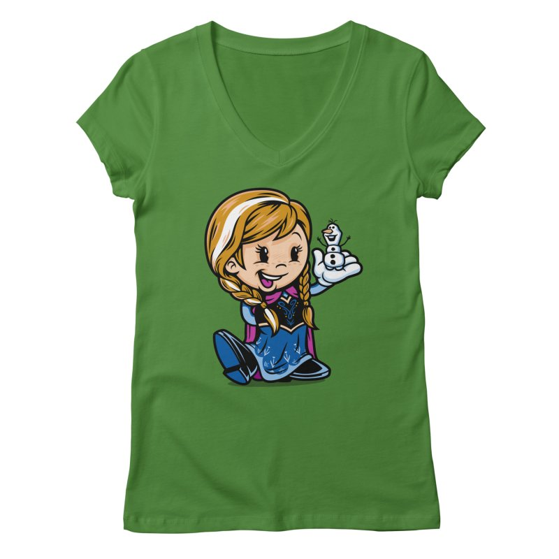 Vintage Anna Women's V-Neck by harebrained's Artist Shop