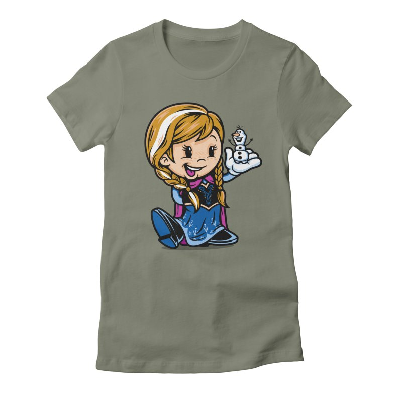 Vintage Anna Women's Fitted T-Shirt by harebrained's Artist Shop