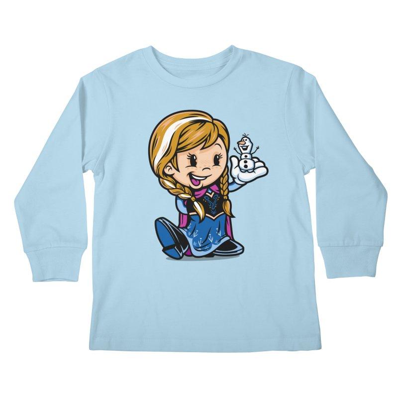 Vintage Anna Kids Longsleeve T-Shirt by harebrained's Artist Shop
