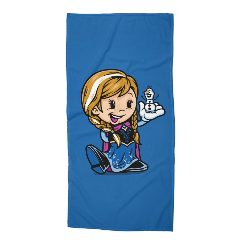 Vintage Anna Accessories Beach Towel by harebrained's Artist Shop