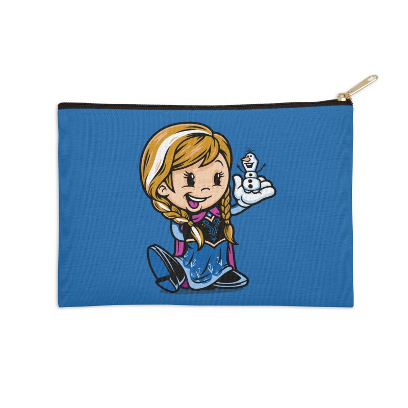 Vintage Anna Accessories Zip Pouch by harebrained's Artist Shop