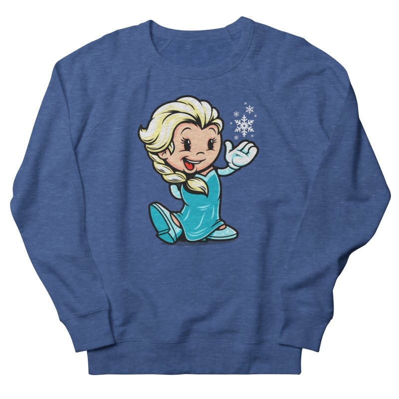 Vintage Elsa Men's French Terry Sweatshirt by harebrained's Artist Shop