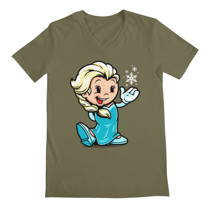 Vintage Elsa Men's Regular V-Neck by harebrained's Artist Shop