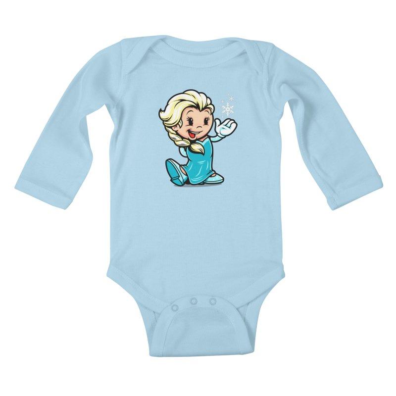 Vintage Elsa Kids Baby Longsleeve Bodysuit by harebrained's Artist Shop