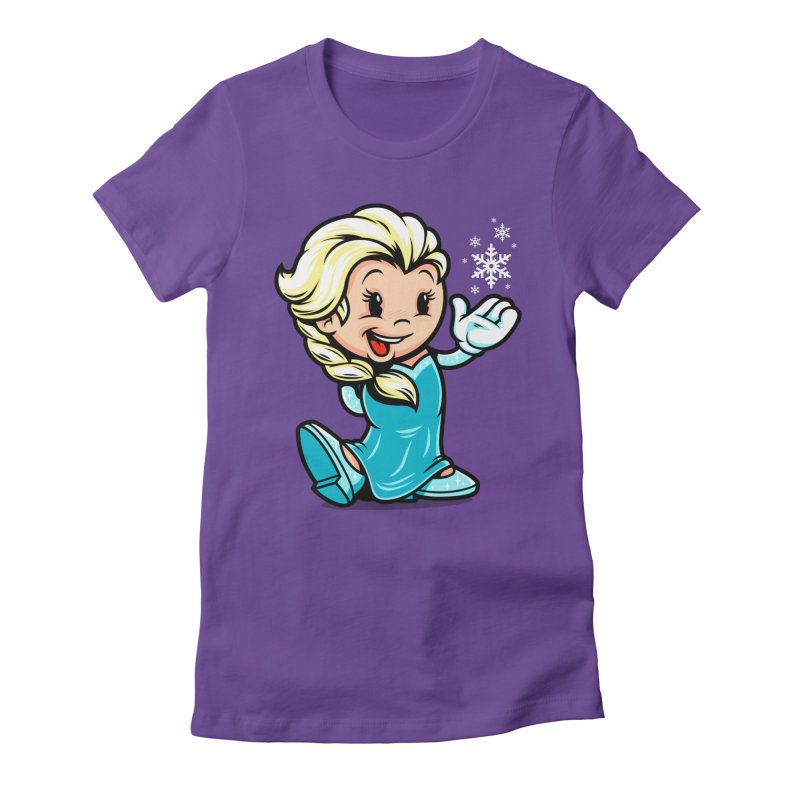 Vintage Elsa Women's Fitted T-Shirt by harebrained's Artist Shop