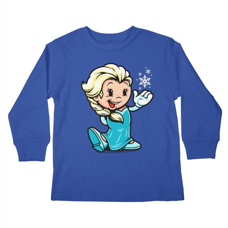 Vintage Elsa Kids Longsleeve T-Shirt by harebrained's Artist Shop