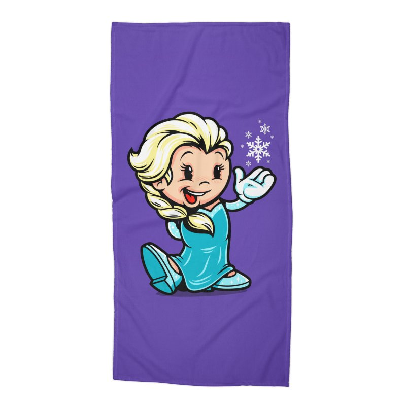 Vintage Elsa Accessories Beach Towel by harebrained's Artist Shop