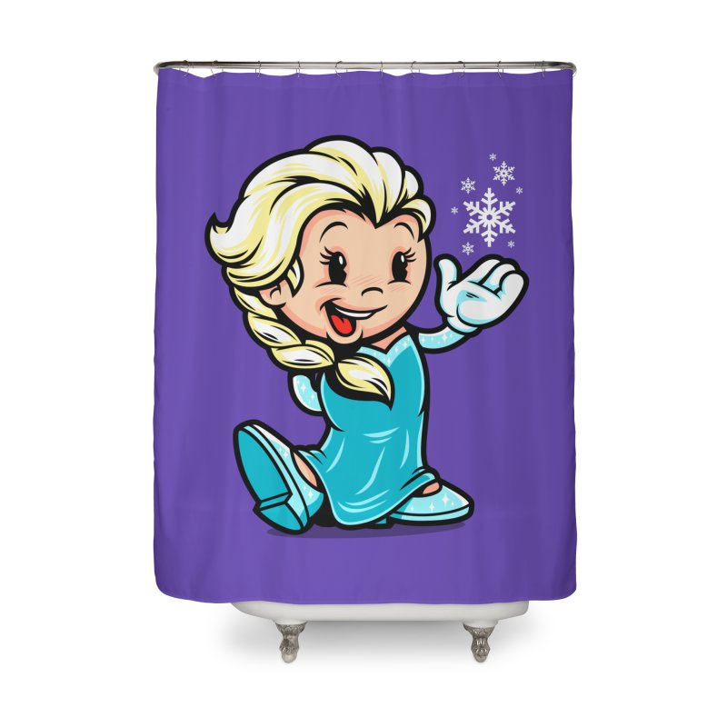 Vintage Elsa Home Shower Curtain by harebrained's Artist Shop