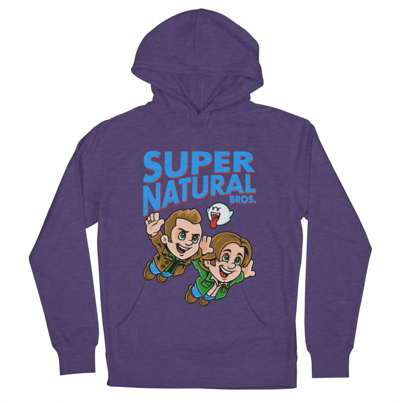 Super Natural Bros Women's French Terry Pullover Hoody by harebrained's Artist Shop