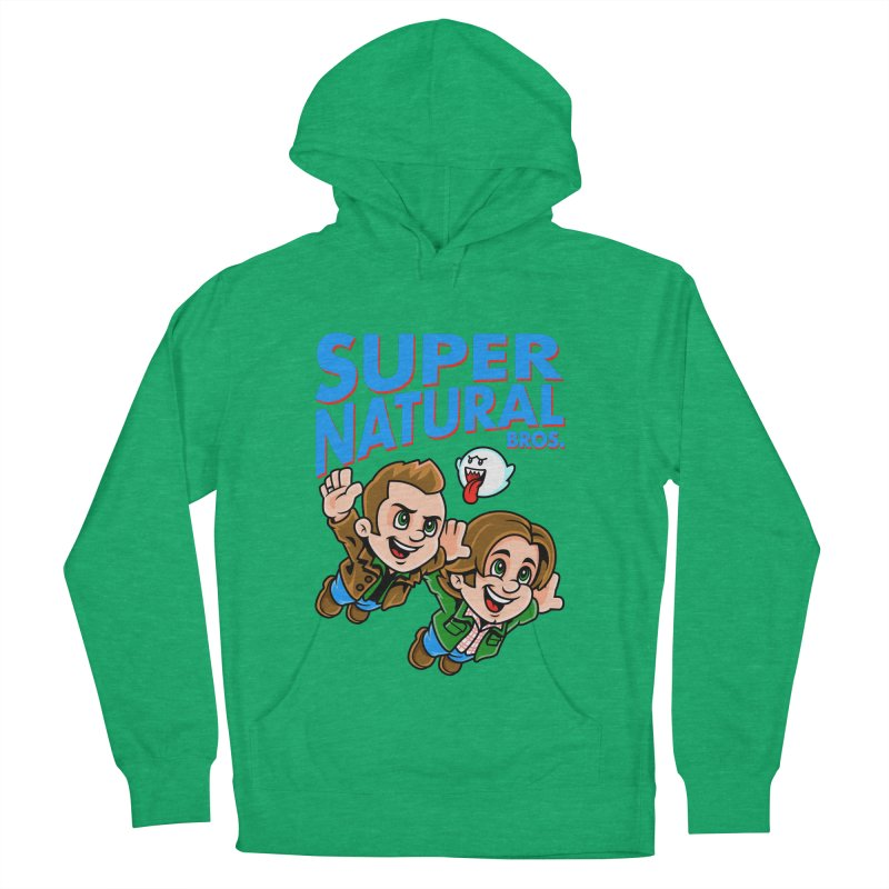 Super Natural Bros Men's French Terry Pullover Hoody by harebrained's Artist Shop