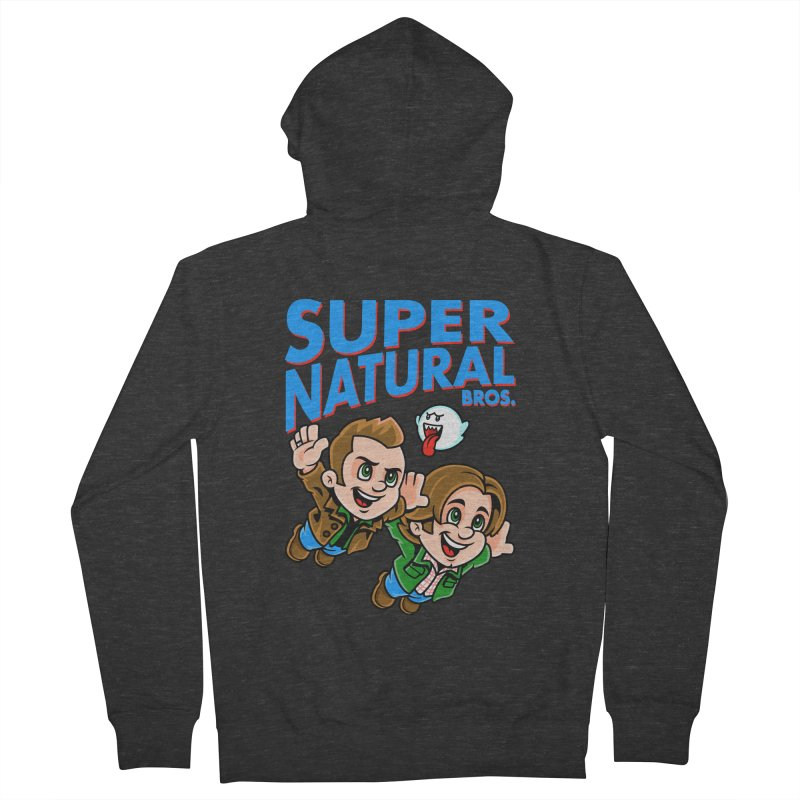 Super Natural Bros Women's French Terry Zip-Up Hoody by harebrained's Artist Shop