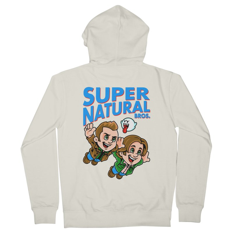 Super Natural Bros Men's French Terry Zip-Up Hoody by harebrained's Artist Shop
