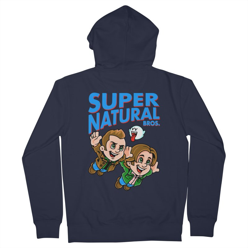Super Natural Bros Men's Zip-Up Hoody by harebrained's Artist Shop