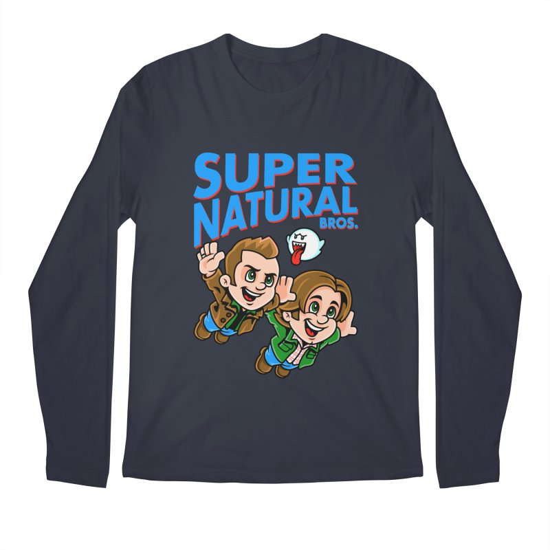 Super Natural Bros Men's Regular Longsleeve T-Shirt by harebrained's Artist Shop
