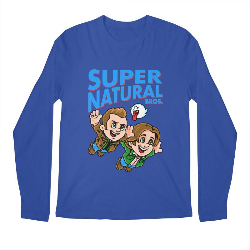 Super Natural Bros Men's Longsleeve T-Shirt by harebrained's Artist Shop
