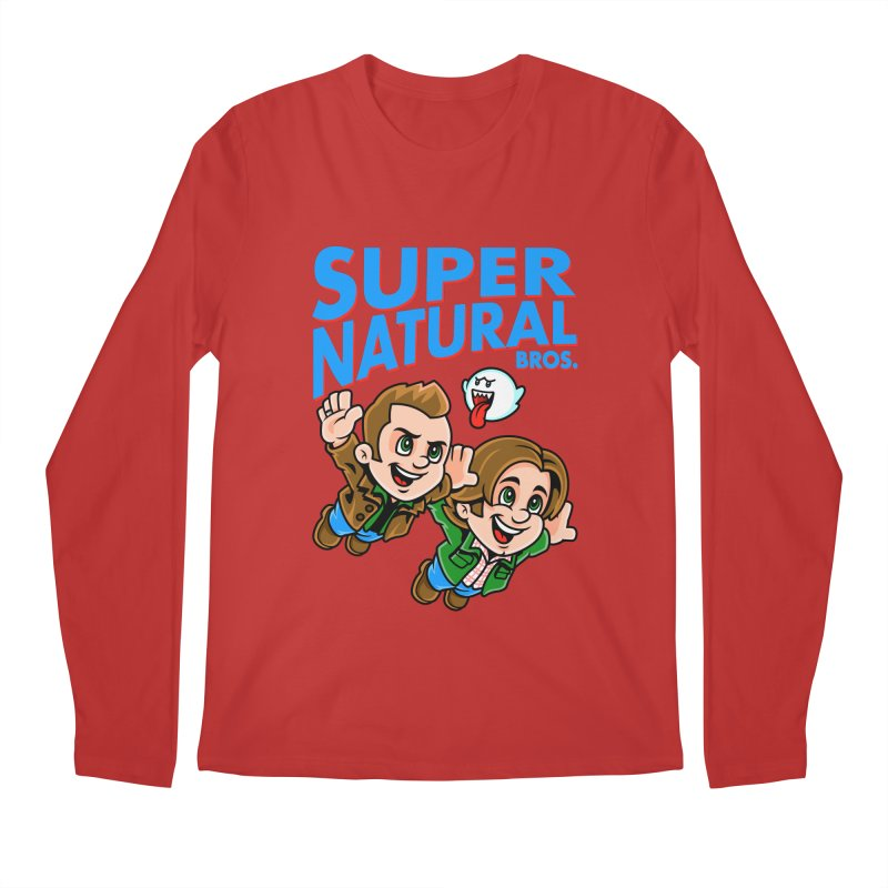 Super Natural Bros Men's Longsleeve T-Shirt by harebrained's Artist Shop