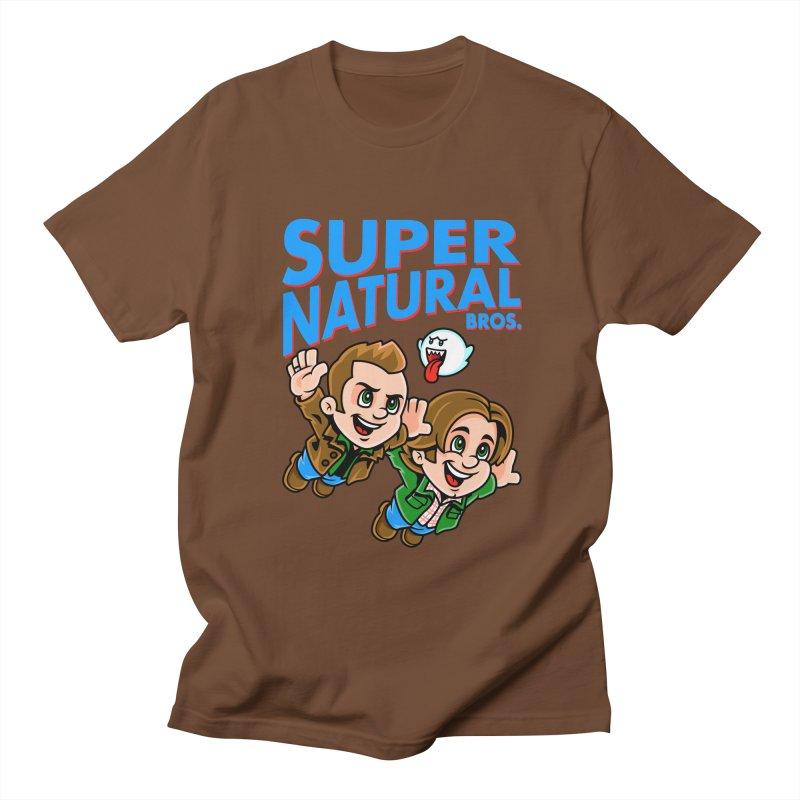 Super Natural Bros Men's Regular T-Shirt by harebrained's Artist Shop