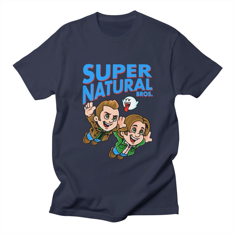 Super Natural Bros Men's T-shirt by harebrained's Artist Shop