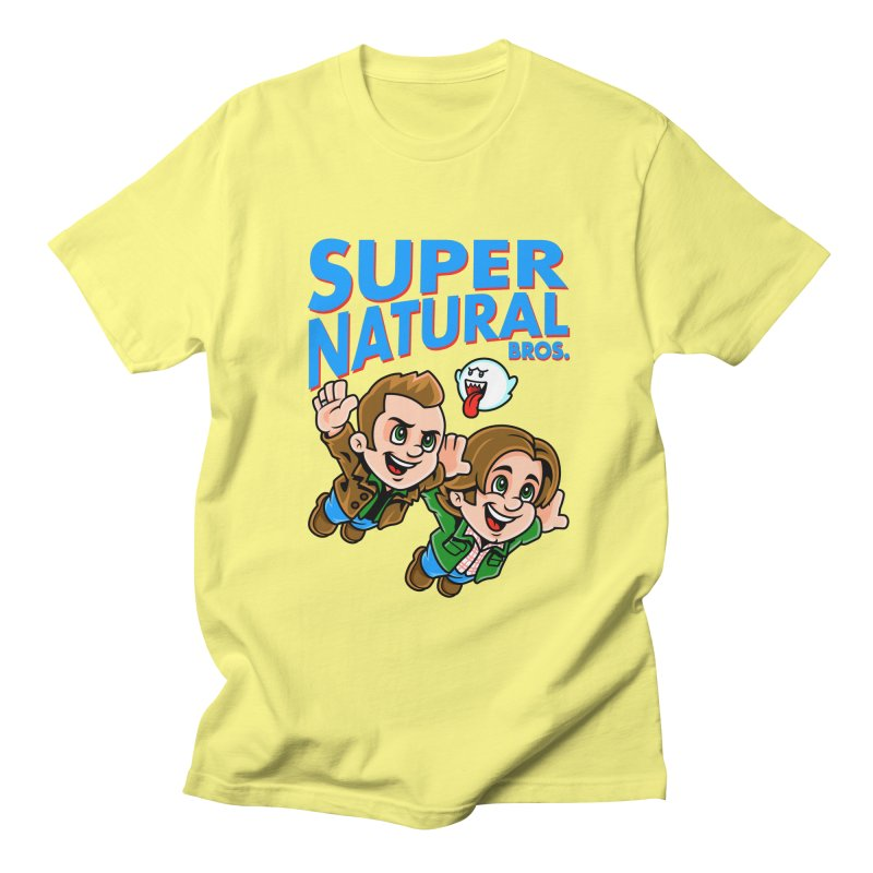 Super Natural Bros Men's T-Shirt by harebrained's Artist Shop