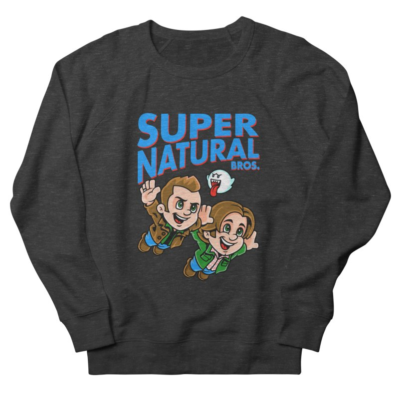 Super Natural Bros Men's French Terry Sweatshirt by harebrained's Artist Shop