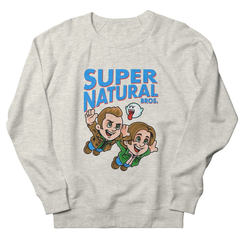 Super Natural Bros Men's Sweatshirt by harebrained's Artist Shop