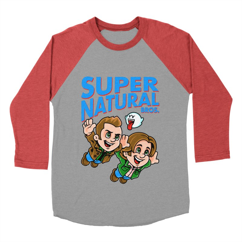 Super Natural Bros Women's Baseball Triblend T-Shirt by harebrained's Artist Shop