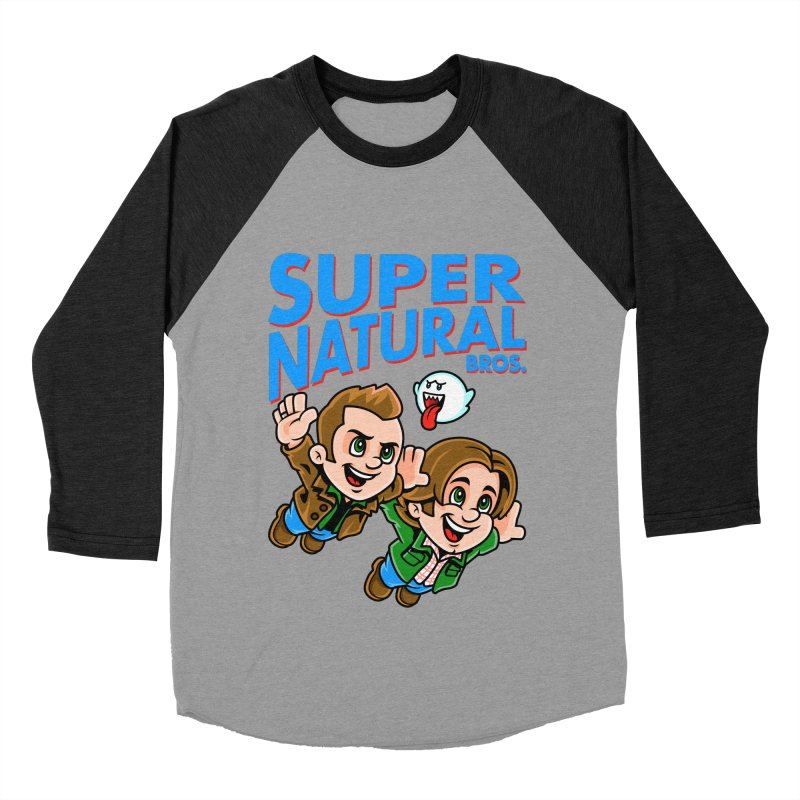 Super Natural Bros Men's Baseball Triblend T-Shirt by harebrained's Artist Shop