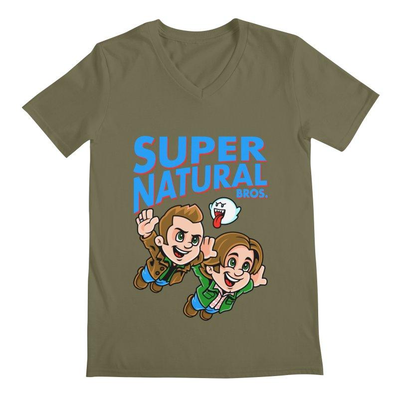 Super Natural Bros Men's V-Neck by harebrained's Artist Shop