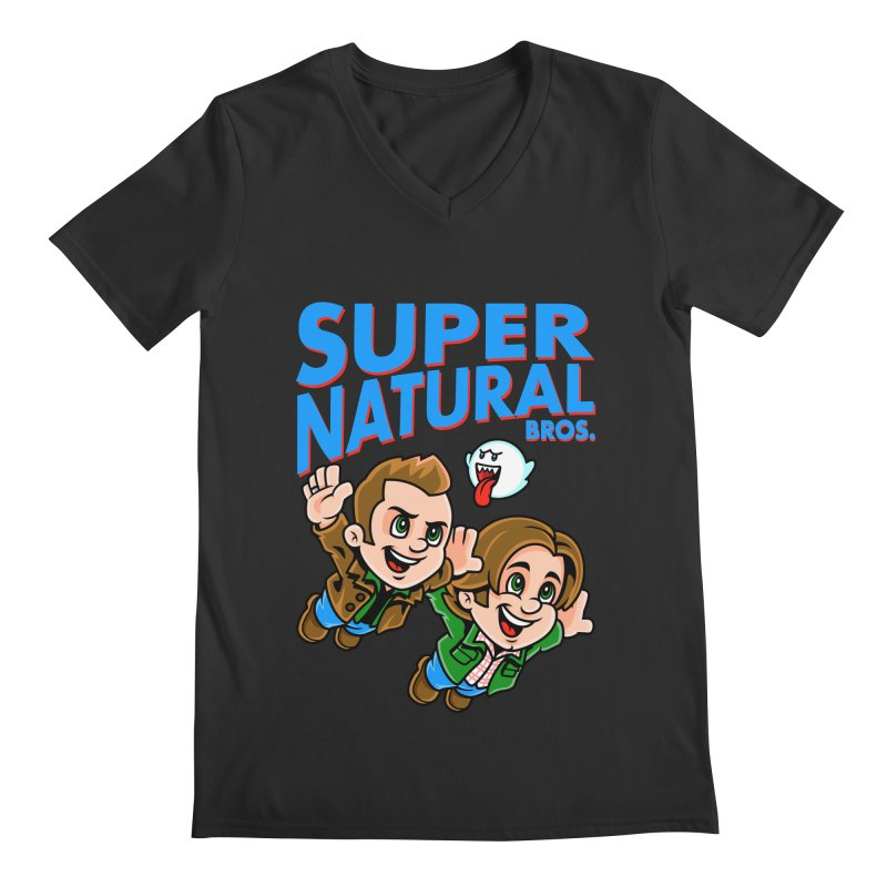 Super Natural Bros Men's V-Neck by harebrained's Artist Shop