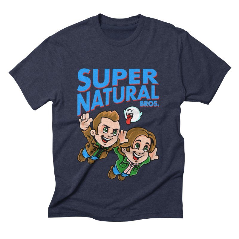 Super Natural Bros Men's Triblend T-shirt by harebrained's Artist Shop