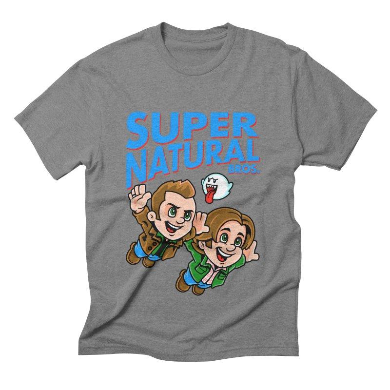 Super Natural Bros Men's Triblend T-shirt by harebrained's Artist Shop