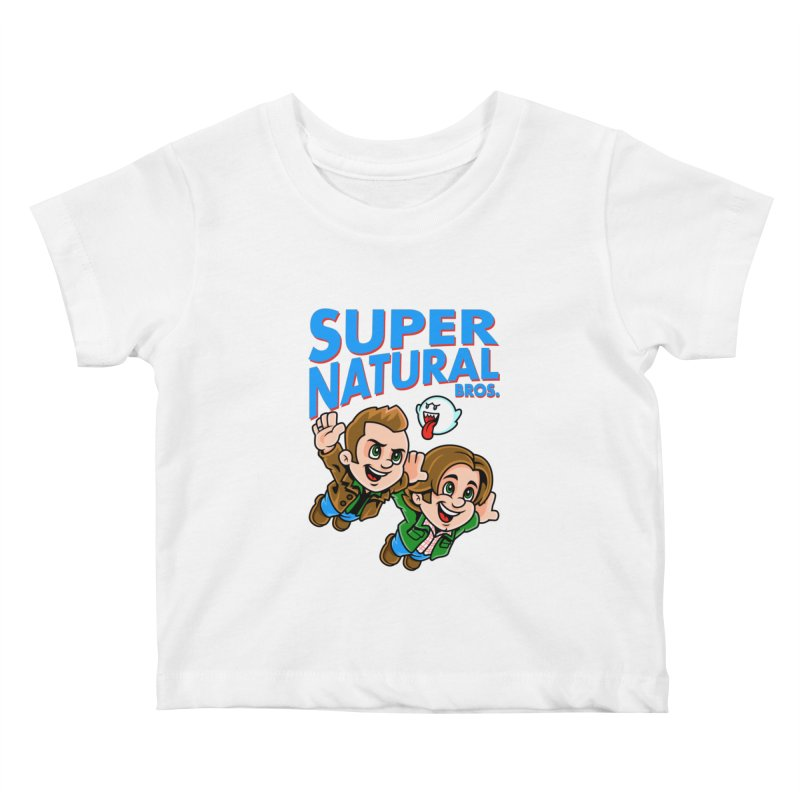 Super Natural Bros Kids Baby T-Shirt by harebrained's Artist Shop