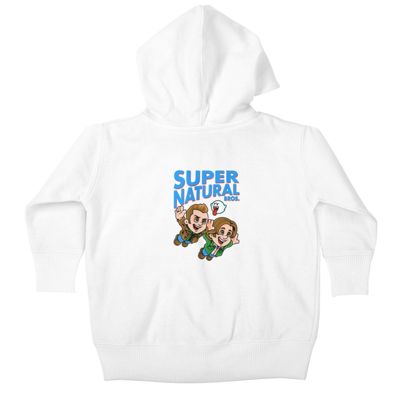 Super Natural Bros Kids Baby Zip-Up Hoody by harebrained's Artist Shop