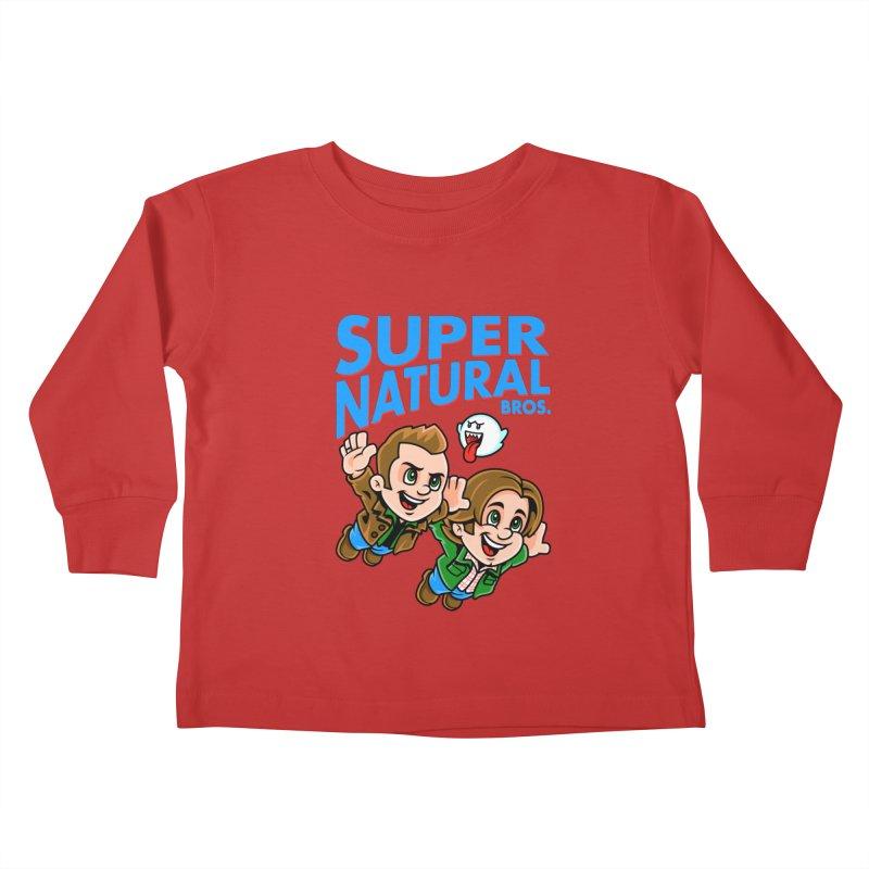 Super Natural Bros Kids Toddler Longsleeve T-Shirt by harebrained's Artist Shop