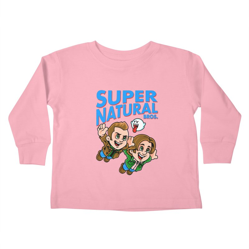 Super Natural Bros Kids Toddler Longsleeve T-Shirt by harebrained's Artist Shop