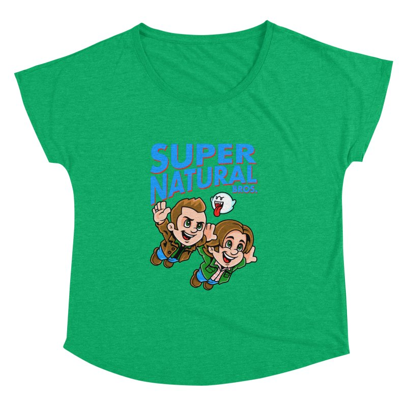 Super Natural Bros Women's Dolman Scoop Neck by harebrained's Artist Shop