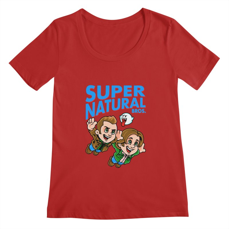 Super Natural Bros Women's Scoopneck by harebrained's Artist Shop