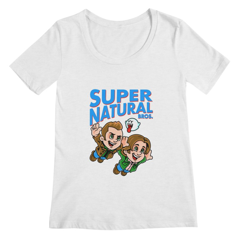 Super Natural Bros Women's Regular Scoop Neck by harebrained's Artist Shop