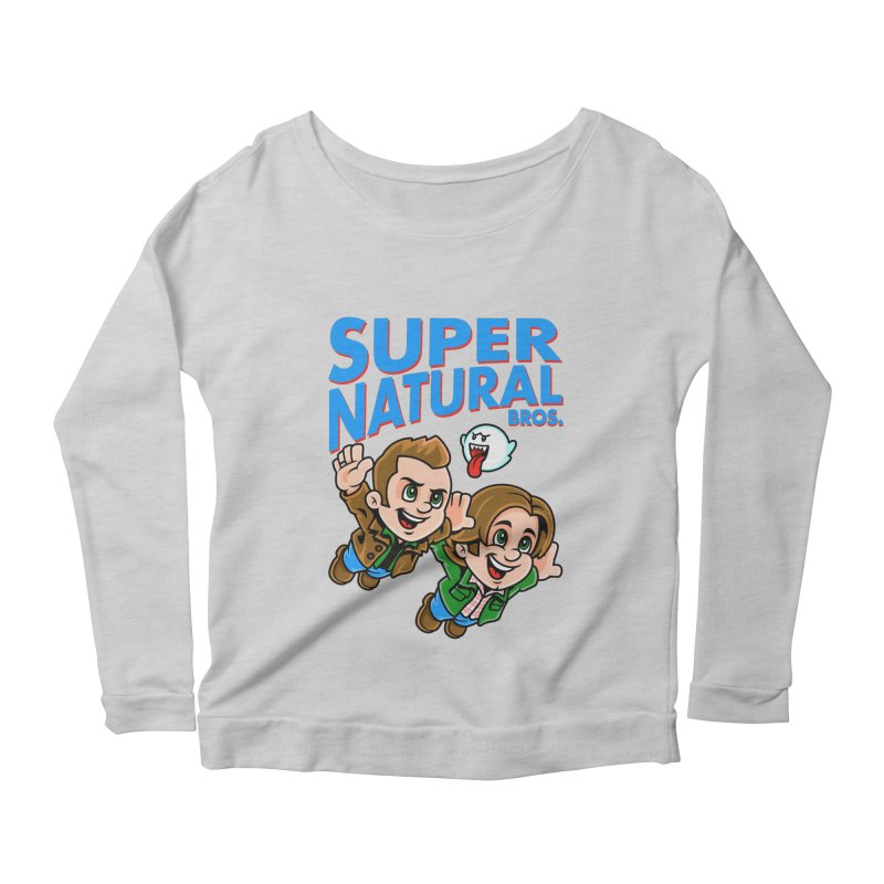 Super Natural Bros Women's Scoop Neck Longsleeve T-Shirt by harebrained's Artist Shop