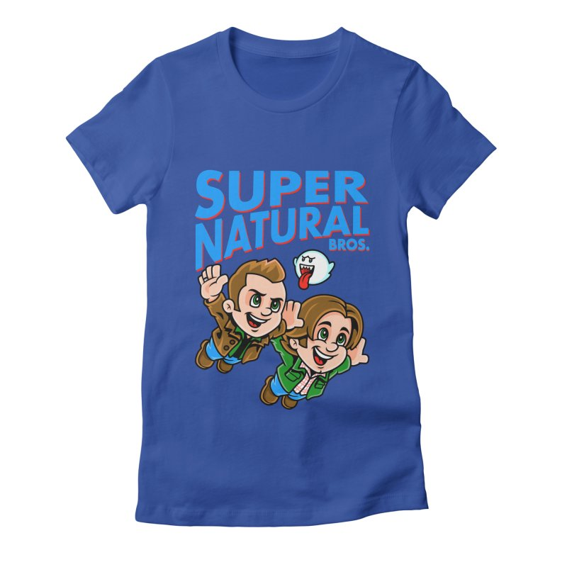 Super Natural Bros Women's Fitted T-Shirt by harebrained's Artist Shop